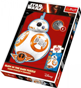 Puzzle Star Wars BB-8 Glow in the dark, 60 pezzi