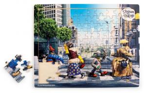 Puzzle Abbey Road di Shaun - Vita da Pecora Puzzle per bambini