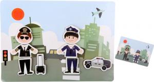 Puzzle magnetico Professioni, lavoro pompiere poliziotto. Gioco per bambini