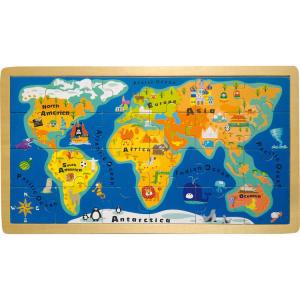 Mappamondo Puzzle in legno