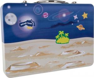Puzzle con valigia magnetica Universo, spazio. Gioco per bambini