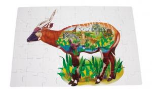 Puzzle gigante Africa, Animali della savana, 48 pezzi