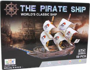 Puzzle 3D Nave dei pirati Mondo marino
