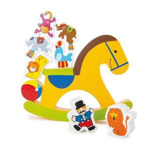 Bilico cavallo a dondolo gioco in legno