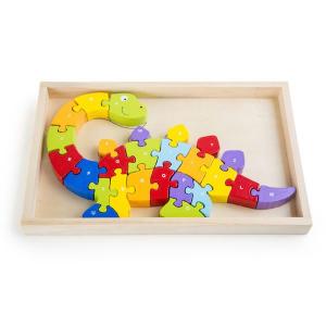 Puzzle ABC dinosauri Gioco in legno Legler 10176