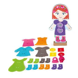 Infila i vestiti Ragazzina Gioco Montessori Legler 10185
