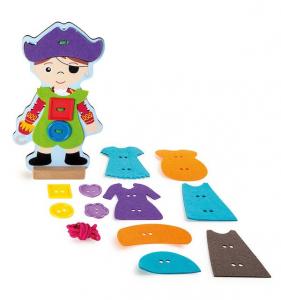 Infila i vestiti Pirata. Gioco montessori Legler 10186