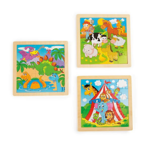 Puzzle nella cornice con animali set nr.1 Legler 10187