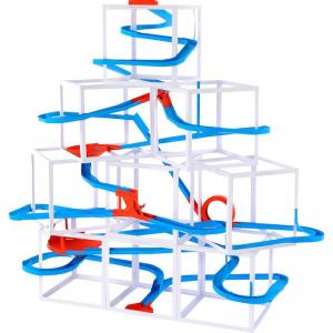 Pista biglie gioco per bambini Papertrack, 10 metri Legler 10305