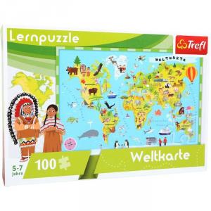 Puzzle didattico Mappamondo Legler 10420