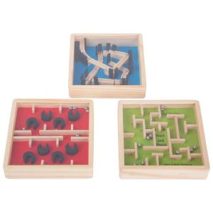 Labirinto con biglie gioco in legno bambini espositore display