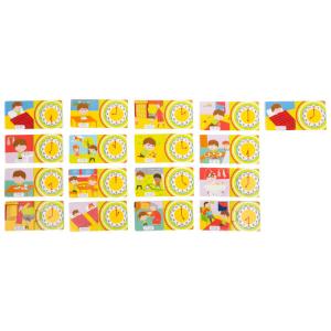 Puzzle didattico in legno Orologio Gioco per bambini