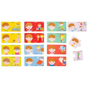 Puzzle in legno didattico Emozioni Gioco per bambini