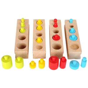 Gioco ad incastro in legno variopinto Gioco Montessori per bambini