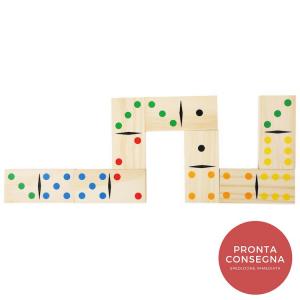 Domino in legno Gigante con borsa trasporto Gioco