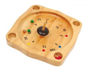 Roulette in legno gioco società bambini