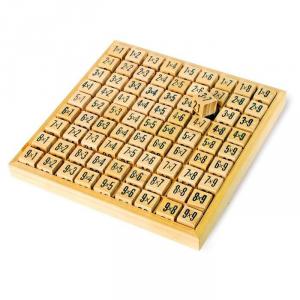 Abaco in legno con 81 dadi per imparare tabelline