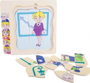 Puzzle didattico bambini a strati in legno La vita della nonna