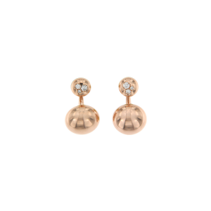 Earrings in 18k gold and diamonds