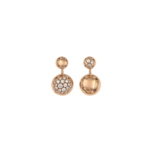 Orecchini Glamour mix and match in oro rosa e diamanti