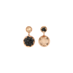 Orecchini mix and match in oro 18k e diamanti