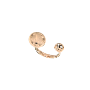 Ring studs in 18k gold and diamonds
