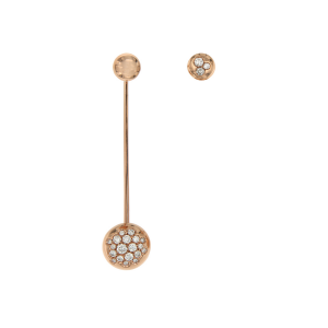 Mono earring in 18k gold and diamonds