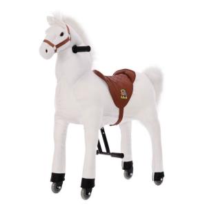 Cavallo Cavalcabile con ruote giocattolo per bambini, Neve