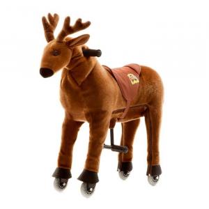 Cavallo Cavalcabile con ruote giocattolo per bambini, Alce