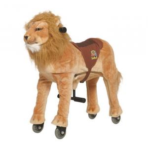 Cavallo Cavalcabile con ruote giocattolo per bambini, Leone