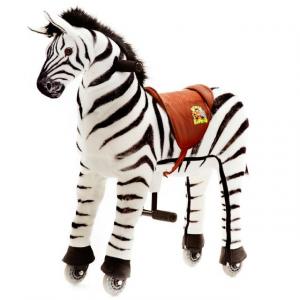 Cavallo Cavalcabile con ruote giocattolo per bambini, Zebra