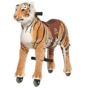 Cavallo Cavalcabile con ruote giocattolo per bambini, Tigre