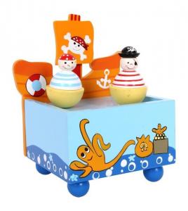 Carillon dei pirati in legno musica suono giocattolo bambini