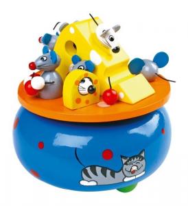 Carillon Sogno dei Topi in legno musica giocattolo bambini