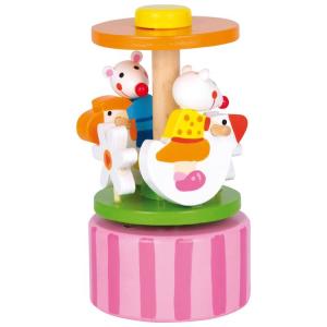 Carillon in legno con topolini ballerini con musica gioco bambini