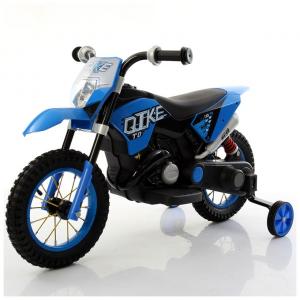 Moto Elettrica Bambini CROSS Blu con ruote in gomma