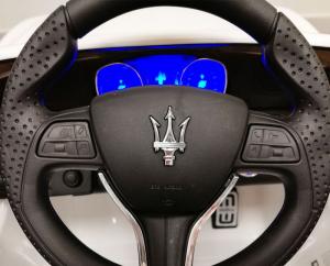 Macchina Auto Elettrica per Bambini Maserati Levante BIANCA 12V