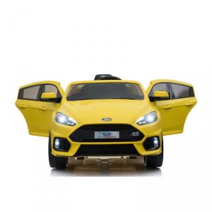 Macchina Auto Elettrica per Bambini FORD FOCUS RS 12v GIALLA