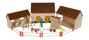 Grande Fattoria in legno Vita Contadina con accessori ed animail idea regalo