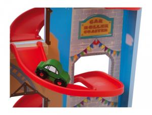Pista garage multipiano Lunapark in legno con accessori Idea regalo per bambini