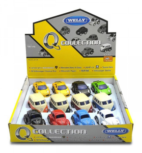 Display modellini auto vintage in metallo movimento a frizione Set da 12