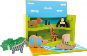 Box set giochi animali Zoo in legno Gioco in valigia vacanza