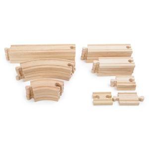 Set binari per ferrovie in legno 24 pezzi Legler 10257