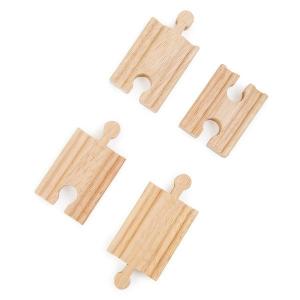 Binari corti per ferrovie in legno 4 pezzi Legler 10262