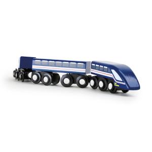 Locomotiva treno per piste in legno alta velocità ?Freccia azzurra? Legler 10332
