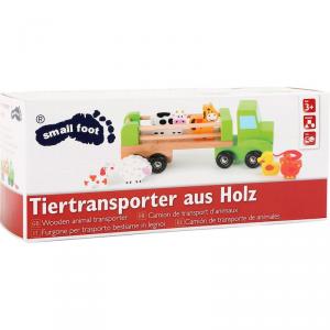 Camion trasportatore di animali con rimorchio gioco in legno Legler 10317