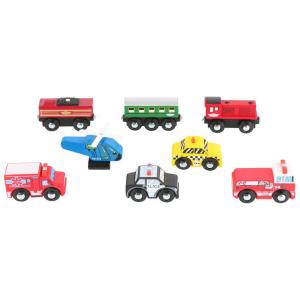 veicoli piccoli in legno  Espositore display