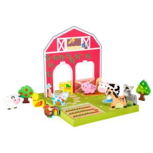 Gioco in legno animali in fattoria Mondo da giocare
