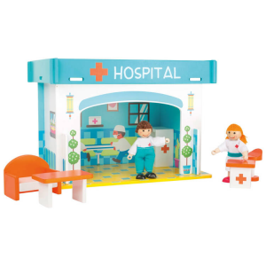 Gioco da costruire in legno Ospedale con accessori