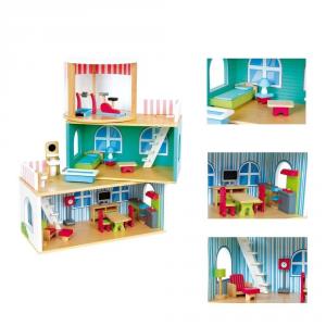 Grande Casa delle Bambole in Legno Variabile con arredamento